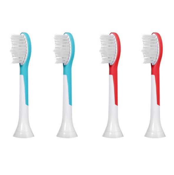 4pcs/Pack Electric Toothbrush Heads for Philips Sonicare Kids HX6044 HX6042 R710 RS910 Children Replacement Tooth Brush Heads 50pcs new uv germicidal sanitizer replacement bulb for philips sonicare hx6150 hx6160 hx7990 hx6972 hx6011 hx6711 hx6932 hx6921