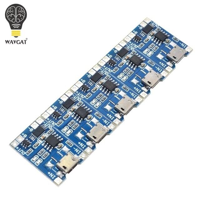 5 stks Micro USB 5 v 1A 18650 TP4056 Lithium Batterij Oplader Module Opladen Board Met Bescherming Dual Functies 1A li-ion