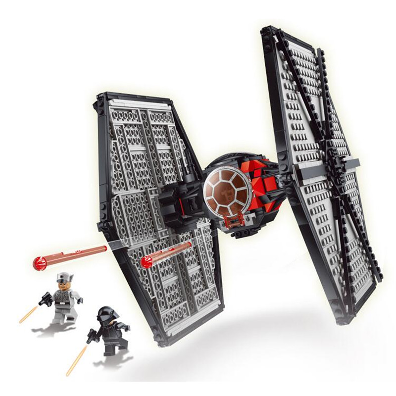 Model First Order Special Forces TIE Fighter StarWars Building Block Bricks Toys for Boys Compatible with  75101 Gifts