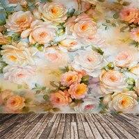 Studio Background Colorful Flowers Theme Photographic Props Children Vinyl Digital Backdrops Photography Backdrops Valentines