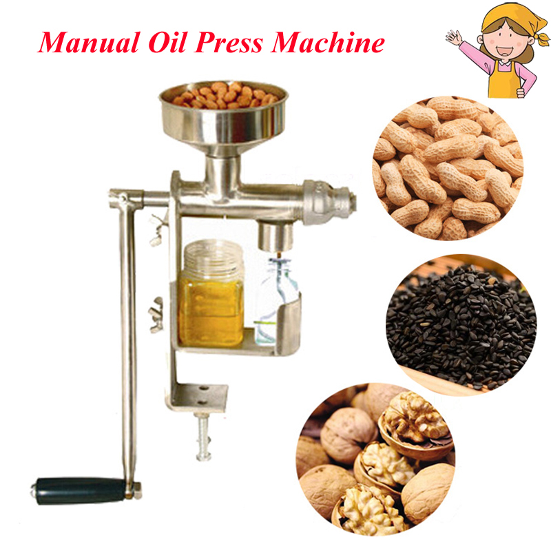 Manual Oil Pressers Peanut Nuts Seeds Oil Press Expeller Oil Extractor Machine HY-03