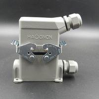 شنت سطح موصل HDC HE 010 3 الحمل الثقيل تدفق الحرارة الجادة التوصيل المقبس 10 النواة 16a ربط المكونات في وحدة|socket rail|socket 220vsocket holder -