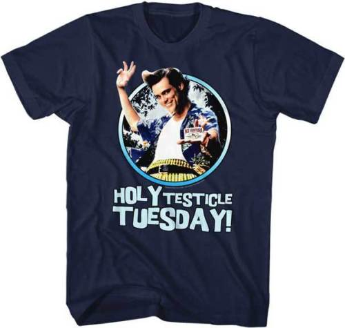 Ace Ventura Pet Detective Holy Testical Tuesday Adult T Shirt Funny Movie T Shirt Fashion top tee