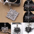 Yage 1PCS The Witcher 3 Wild Hunt Game Key Chain Small Keychain Necklace Fashion Jewelry Gift With Nice Logo Metal Box Package
