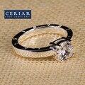 Moda para mujer 2016 mujeres libres del envío de la joyería de moda plateado blanco zirconia anillo occidental estilo europeo anillos caliente