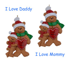 I Love Mommy/2 Personalized Ornament