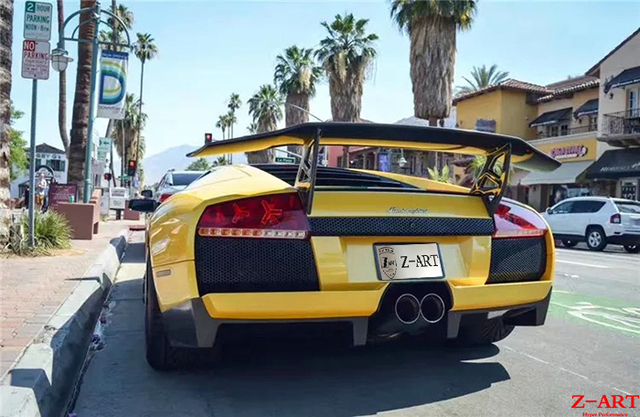 Z Art Carbon Fiber Lp670 Sv Rear Spoiler For Lamborghini Murcielago