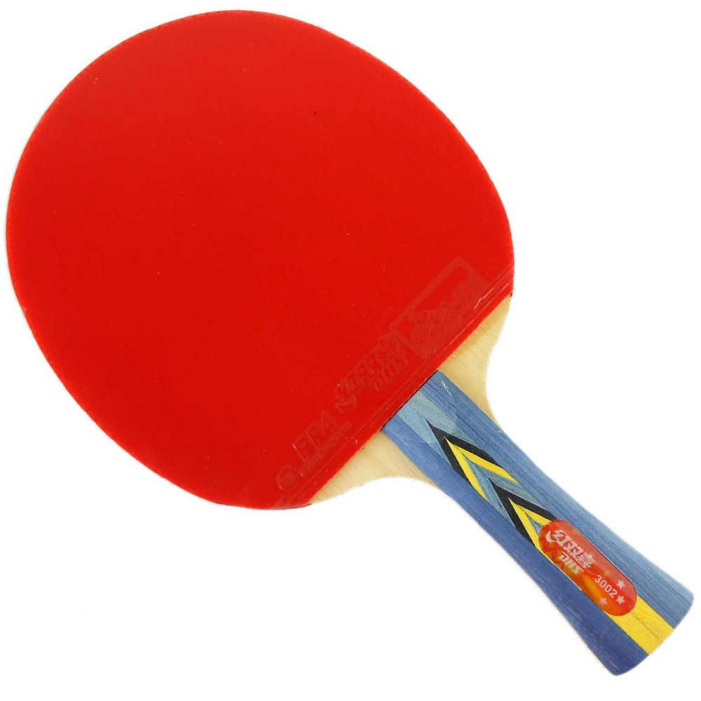 Dhsダブルハピネス3002長いshakehand fl卓球ラケットピンポンshakehand長いハンドルfl
