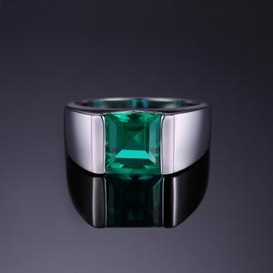 Image 2 - JewPalace Simulato Nano Smeraldo Anello di 925 Anelli In Argento Sterling per gli uomini Anelli di Nozze Dargento 925 Pietre Preziose Gioielli Gioielleria Raffinata