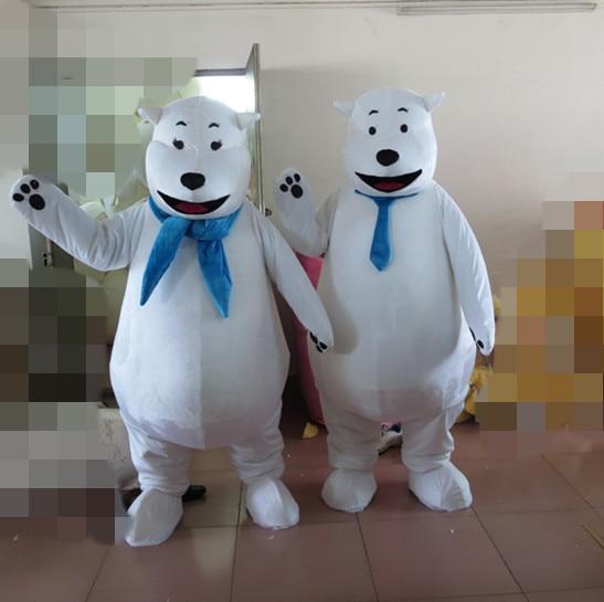Costume de mascotte ours polaire costume fantaisie personnalisé kits de cosplay anime thème déguisement costume de carnaval
