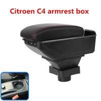 Center Centre Console Storage Box For Citroen C4 Hatchback 2004 2010 Armrest Arm Rest Rotatable 2005 2006 2007 2008 2009