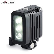 SOONSUN 50Mกันน้ำใต้น้ำดำน้ำLED LightโคมไฟสำหรับGoPro HERO9 8 7 6 5 4สำหรับDJI osmo ActionสำหรับCanon DSLRกล้อง