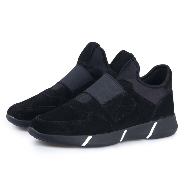 Winter Casual  Mens Shoes Without Lace Comfort Street Lace Shoes Male Shoe Formal Simple Easy Pure Color black,blue