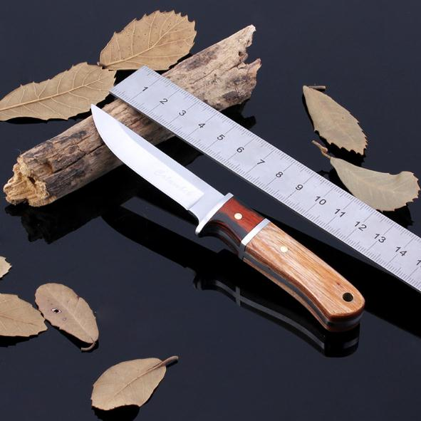 Real Exquisite Wooden Handle Straight font b Knife b font Men Essential Portable Survival Tools Camping
