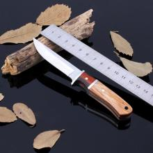 Real Exquisite Wooden Handle Straight Knife Men Essential Portable Survival Tools Camping Hunting Fruit Knives