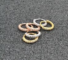 50 قطعة من خاتم الأنف الحجري CZ للشحن المجاني ، اقراط الاذن ، خاتم الغضروف الغضروف ، خاتم جديد لثقب الجسم باللون الفضي/الذهبي/الوردي