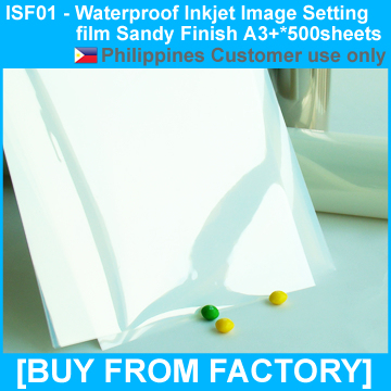 Waterproof Inkjet PET Sandy Film for Screen Printing Positives A3+*500Sheets