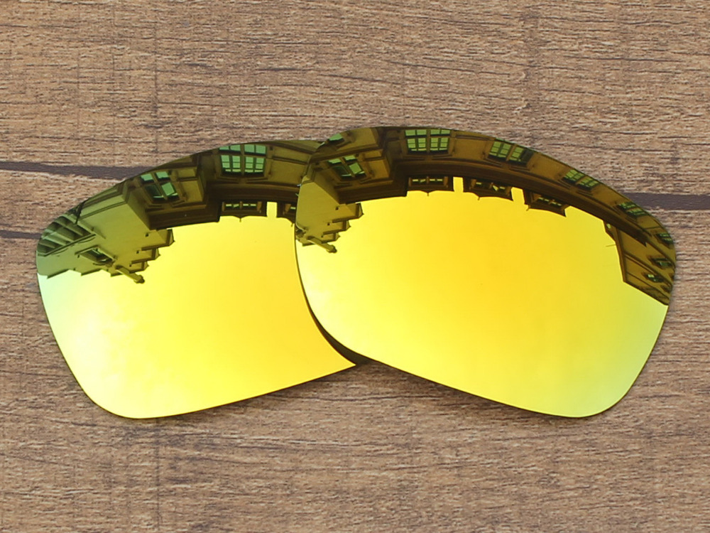 24 K oro espejo polarizado Objetivos para twoface Gafas de sol ...