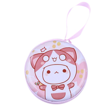 40PCS / LOT Mini Coin Purse Cute Cartoon Tinplate Round Zipper Bag Small Pouch Zero Gift Earphone