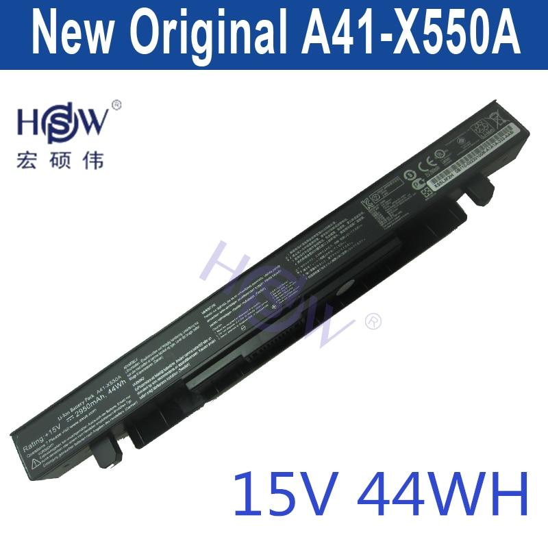 HSW   new  15V 44Wh A41-X550A X550A Battery for Asus X550 X550B X550C X550CA X550CC X550V X550VC  bateria laptop battery for asus x552 x552cl x552e x552ea x552ep x552l x552ld x552vl x552la 15v 2950mah 44wh li ion oem
