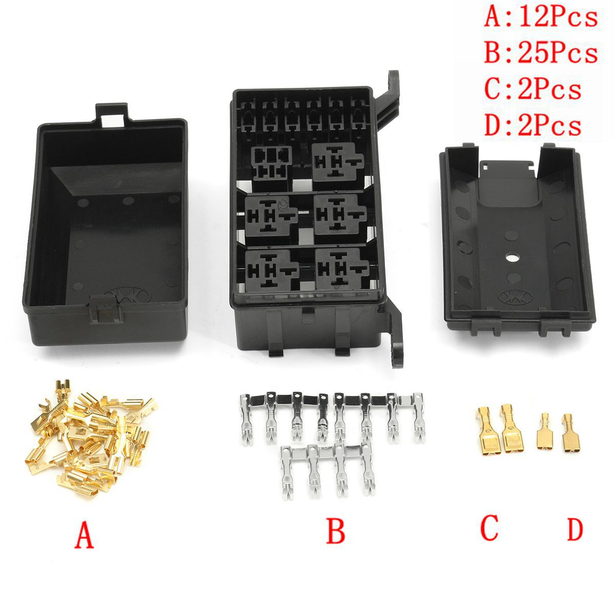 medium resolution of car auto atv fuse box 6 relay relay adapter holder 5 road kit for the nacelle insurance