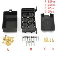KROAK Car Auto Atv Fuse Box 6 Relay Relay Adapter Holder 5 Road Kit For The