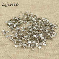 Lychee 3# 5# Classic Silver Color Metal Iron Zipper Stopper For DIY Craft Garment Pants Sewing Zipper End Accessories