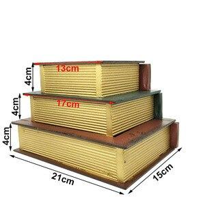 Image 3 - Joyero Vintage de tres capas superpuesta tipo libro, artesanías de madera, caja de acabado de escritorio, caja de almacenamiento de cosméticos, decoración del hogar