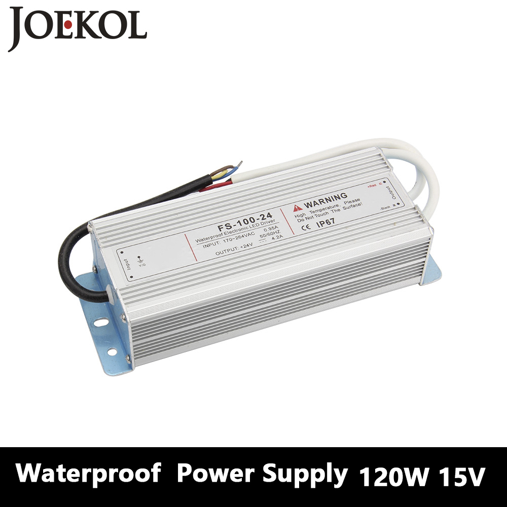 Led Driver Transformer Waterproof Switching Power Supply Adapter,,AC170-260V To DC15V 120W Waterproof Outdoor IP67 Led Strip led driver transformer waterproof switching power supply adapter ac110v 220v to dc5v 20w waterproof outdoor ip67 led strip lamp