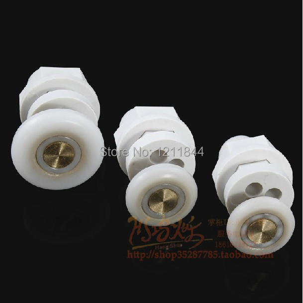 Permalink to 8pcs Circular shower room  door roller wheels plastic pulley  Shower room accessories Bath Hardware Sets