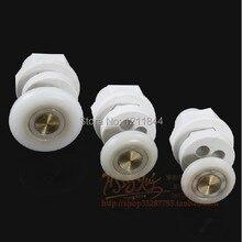 8pcs Circular shower room  door roller wheels plastic pulley Shower accessories Bath Hardware Sets