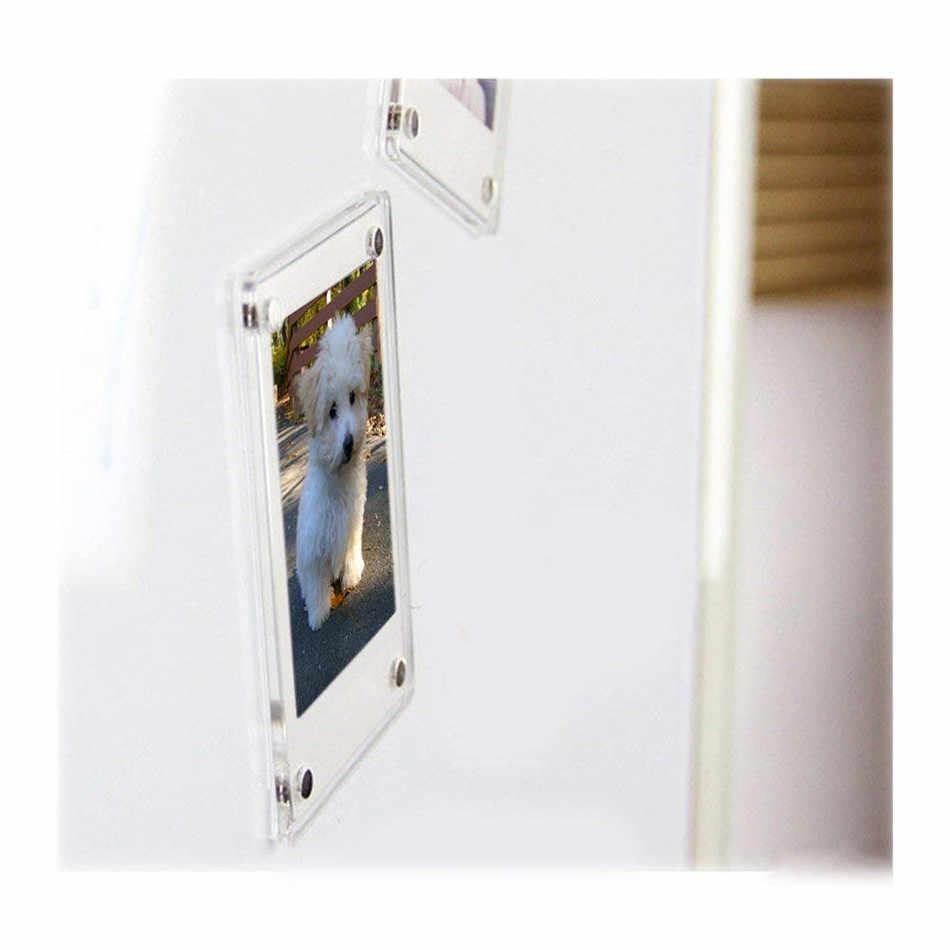 the best attitude df2fd 047b1 1pcs Magnetic Photo Frame For Fujifilm Instax Mini 9 7s 8 25 50s 90 Film  Camera Accessories Acrylic Stick Fridge Picture Case