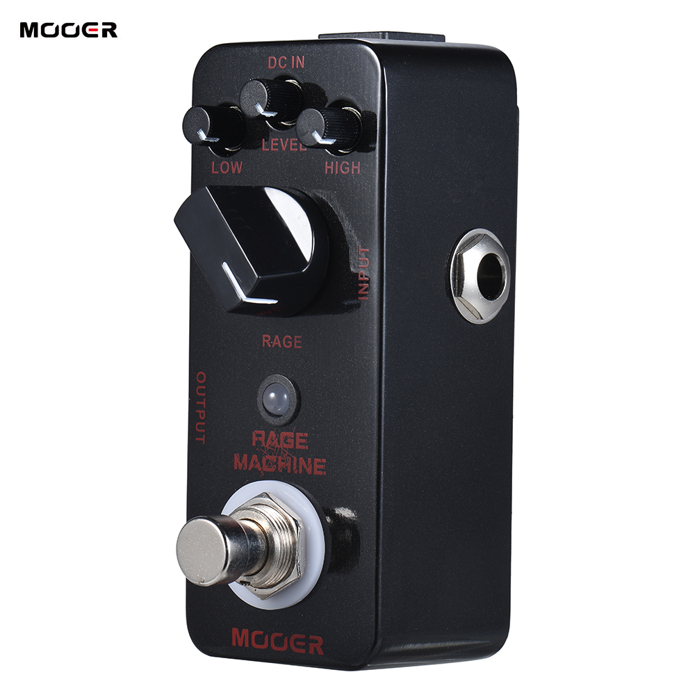 MOOER RAGE MACHINE Heavy Metal Distortion Guitar Effect Pedal True Bypass Electric Guitar Pedal Full Metal