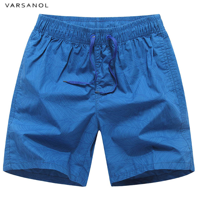 Varsanol Brand Striped Mens Beach   Shorts   Summer Men's   Board     Shorts   2018 Cotton Breathable   Shorts   Male Good Quality blue   shorts
