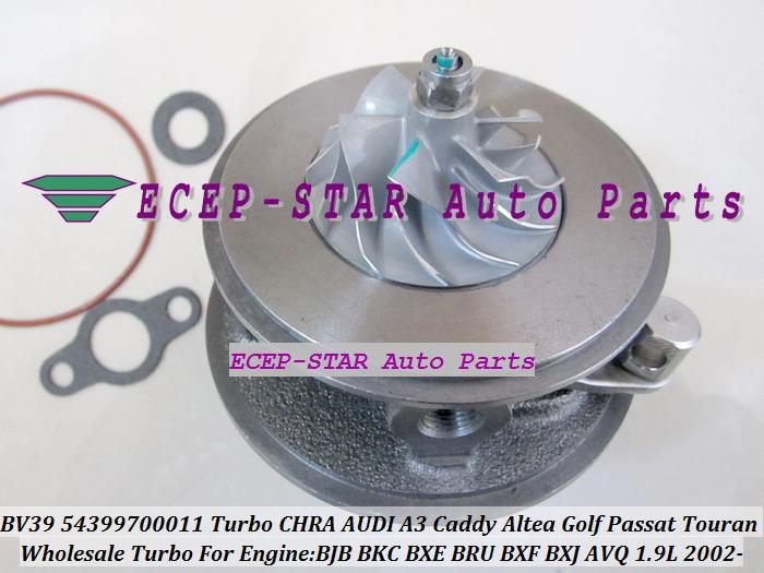 Turbo cartridge CHRA BV39 54399880022 54399700022 751851 038253014G For AUDI A3 For SEAT Altea VW Caddy Golf Passat BJB AVQ 1.9LTurbo cartridge CHRA BV39 54399880022 54399700022 751851 038253014G For AUDI A3 For SEAT Altea VW Caddy Golf Passat BJB AVQ 1.9L