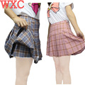 Faldas plisadas Para Mujer de Cintura Alta Saia Plissada Harajuku Animadora Falda Skater Shorts Niñas Uniforme Escolar Cosplay WXC