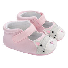 Melissa 2018 New Summer Mini Cat Big Face with Bow Classic Girls Low-Top Shoes Nonslip Kids Shoe Soft Leather #9(China)