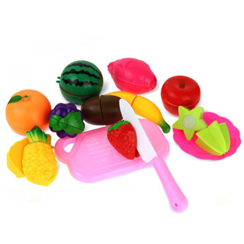 2017 13PC Cutting Fruit Vegetable Food Pretend Play Children Kid Educational Toy Gift Y7824