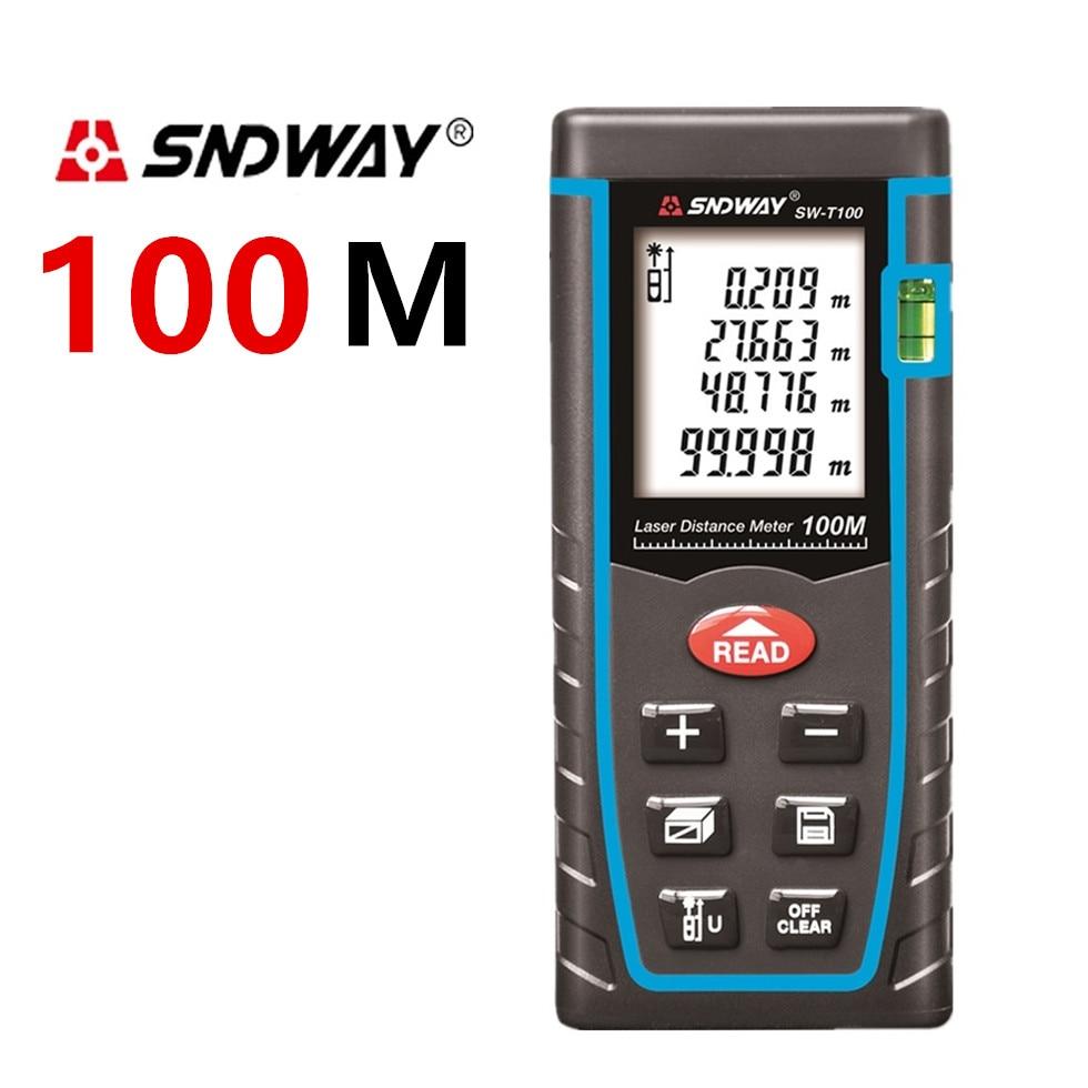 Sndway medidor de distancia láser 40 m 60 M 80 m 100 M láser telémetro Cintas medida gobernante ruleta medidor trena