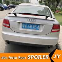 For Audi A6 Spoiler 2009 2019 Audi A6 A7 spoiler TF High Quality ABS Material Car Rear Wing Primer Color Rear Spoiler