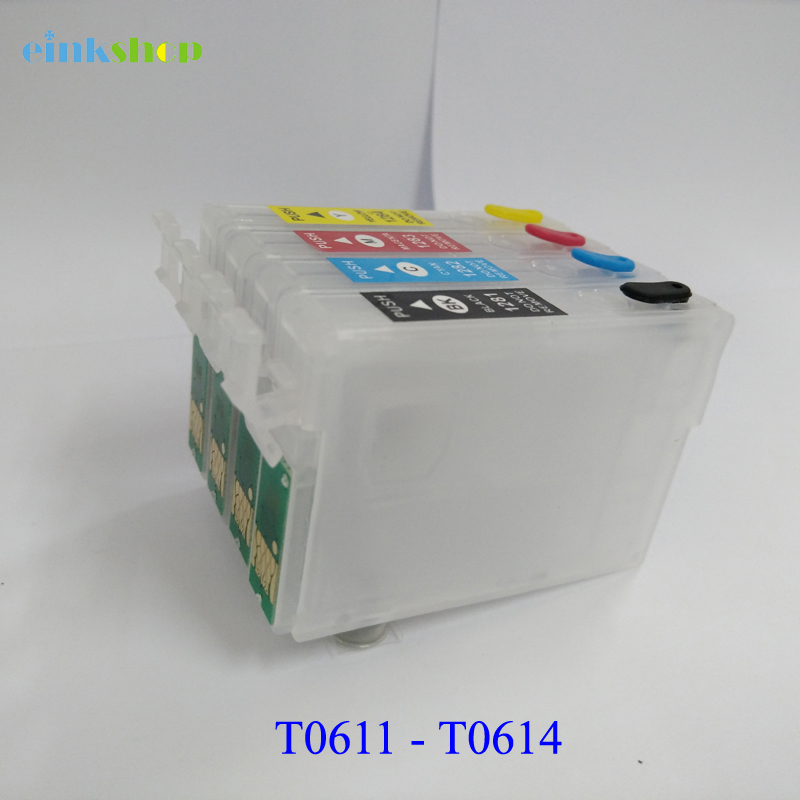 1SET T0611 - T0614 refillable ink Cartridges t0611 for epson stylus D88 DX3800 D68 DX3850 DX4800 DX4850 printer