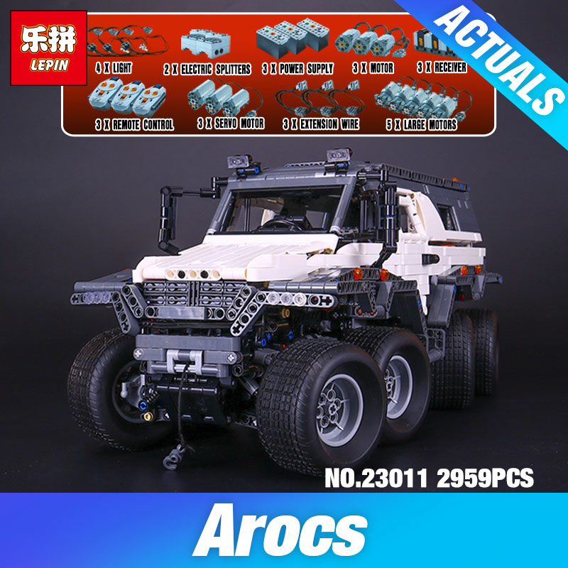 2018 DIY LEPIN 23011 2959 pcs Technic Series Off-road vehicle Model Building Kits Block Educational Bricks Compatible Toys Gift hot 378pcs technic motorcycle exploiture model harley vehicle building bricks block set toy gift compatible with legoe