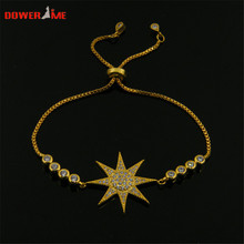 2017 big sale!!! Dower me Little Sun AAA Zircon Telescopic Bracelet Stainless Steel Fashion OL Female Jewelry does not fade
