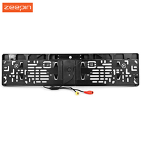 EU Car License Plate Frame Rear View Camera With Waterproof 4 Light Night Vision 170 Degree
