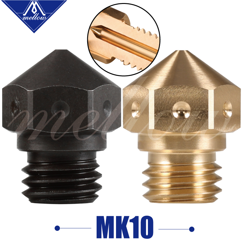 1pcs Mellow High Quality Micro Swiss Mk10 Brass/hardened Steel M7 Nozzle For 3d Printer Flashforge/ctc/wanhao Swiss Hotend Kit