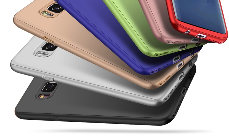 Luxury 360 Full Cover Case For Samsung Galaxy S8 S7 Plus Cases Shockproof PC With Glass TOMKAS Case For Samsung Galaxy S8    (5)
