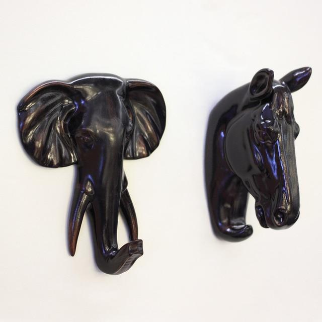 Vintage home decor boutique coffee shop Archaize horse elephant head ...
