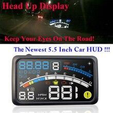 2017 4E 5.5″ Head Up Display HUD OBD II EOBD Windshield Projector Self-adaptive Car Fuel etc Parameter Display Speeding Warning