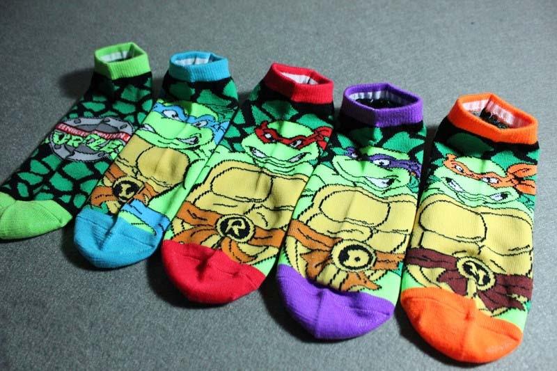 Leo Tartaruga Ninja Meias Mulher Meias Homens Anime Comic Dos