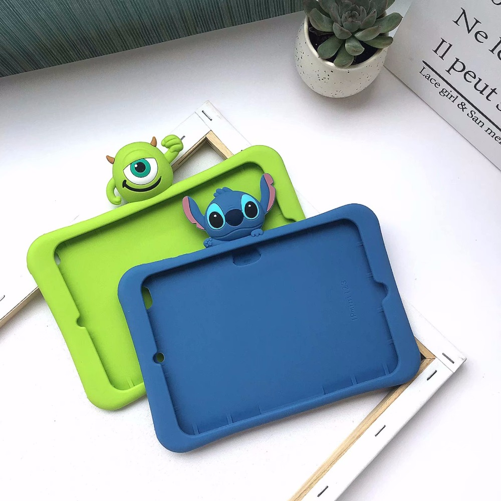 Silicon Silica Gel Cover Tablet Case For Apple Ipad 2 3 4 Air 1 2 Mini 1 2 3 4 For New Ipad 2017 2018 Pro 9.7 10.5 Cover +pen